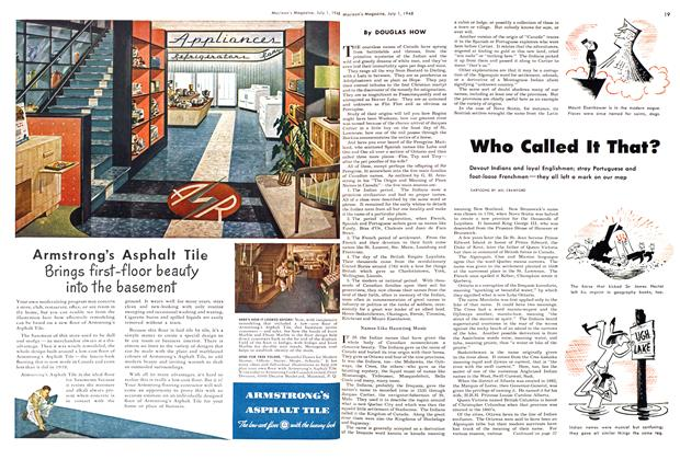 Article Preview: Who Called It That?, July 1948 | Maclean's