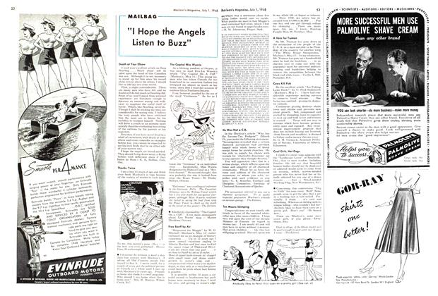 "Article Preview: ""I Hope the Angels Listen to Buzz"", July 1948 