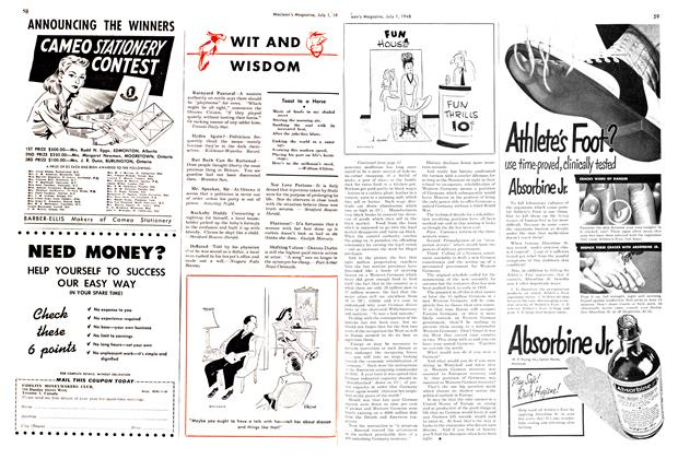 Article Preview: WIT AND WISDOM, July 1948 | Maclean's