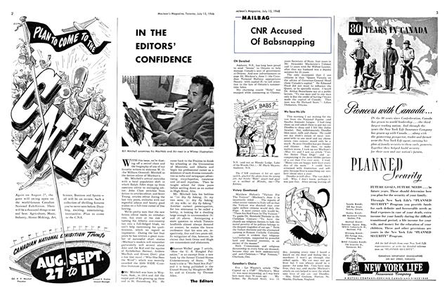 Article Preview: IN THE EDITORS' CONFIDENCE, July 1948 | Maclean's