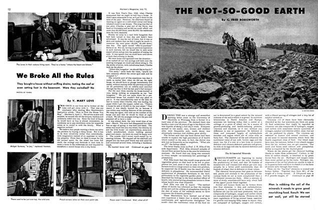 Article Preview: THE NOT-SO-GOOD EARTH, July 1948 | Maclean's