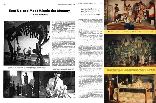 Article Preview: Step Up and Meet Minnie the Mummy, August 1948 | Maclean's