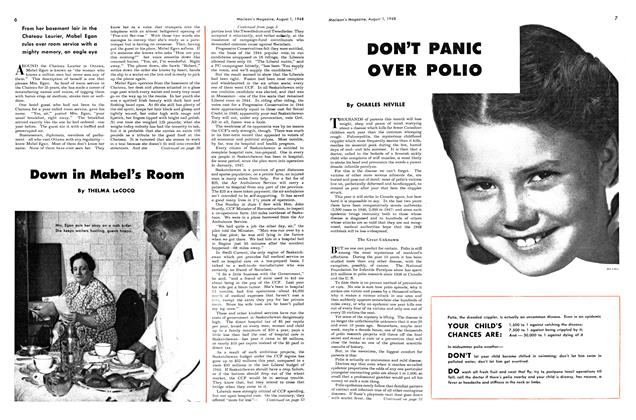 Article Preview: DON'T PANIC OVER POLIO, August 1948 | Maclean's
