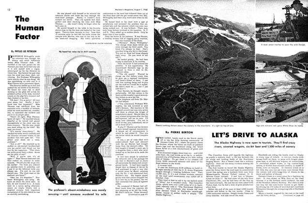 Article Preview: LET'S DRIVE TO ALASKA, August 1948 | Maclean's