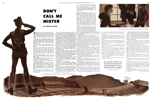 Article Preview: DON'T CALL ME MISTER, August 1948 | Maclean's