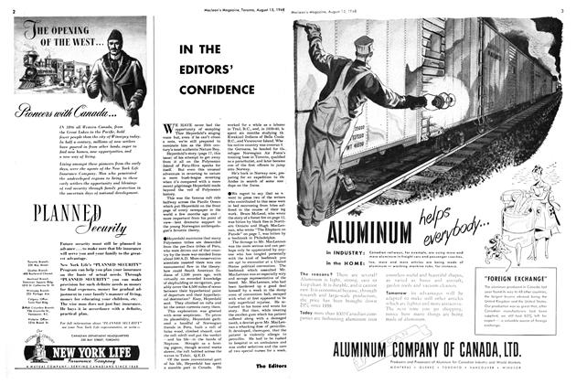 Article Preview: IN THE EDITORS' CONFIDENCE, August 1948 | Maclean's