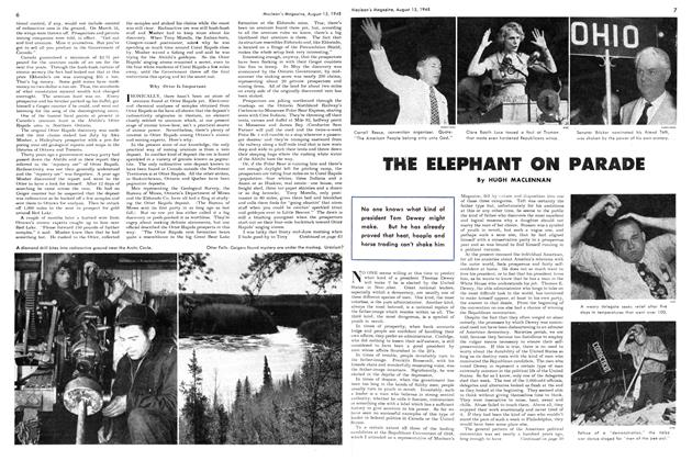 Article Preview: THE ELEPHANT ON PARADE, August 1948 | Maclean's