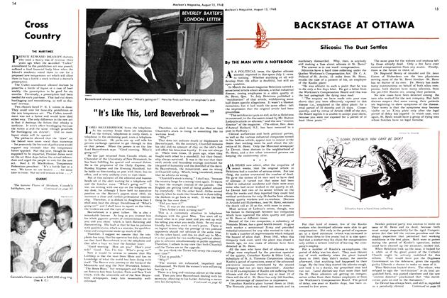"Article Preview: ""It's Like This, Lord Beaverbrook —"", August 1948 