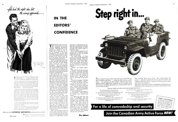 Article Preview: IN THE EDITORS' CONFIDENCE, September 1948 | Maclean's