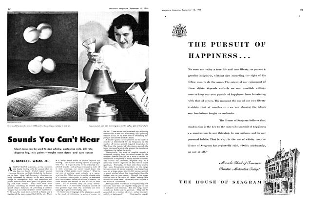 Article Preview: Sounds You Can't Hear, September 1948 | Maclean's
