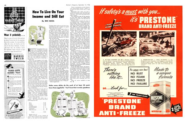 Article Preview: How To Live On Your Income and Still Eat, September 1948   Maclean's