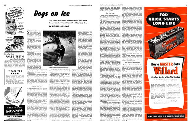 Article Preview: Dogs on Ice, September 1948 | Maclean's