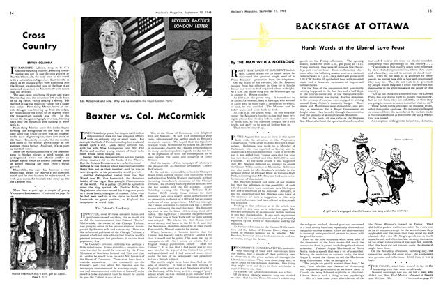 Article Preview: BACKSTAGE AT OTTAWA, September 1948 | Maclean's