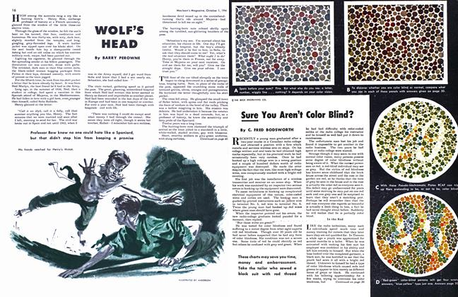 Article Preview: Sure You Aren't Color Blind?, October 1948 | Maclean's