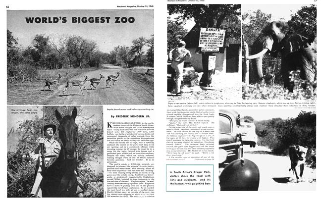 Article Preview: WORLD'S BIGGEST ZOO, October 1948 | Maclean's