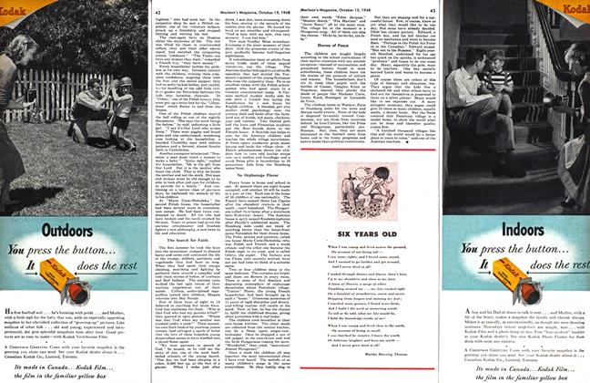 Article Preview: SIX YEARS OLD, October 1948   Maclean's