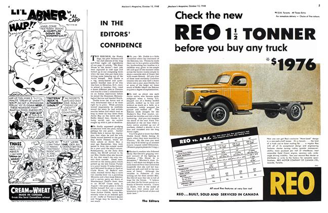 Article Preview: IN THE EDITORS' CONFIDENCE, October 1948   Maclean's