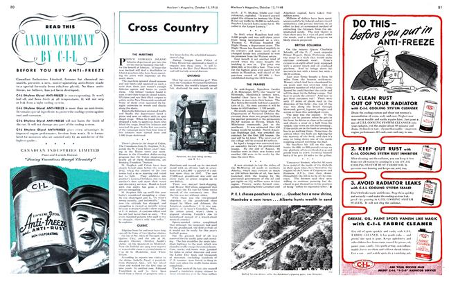 Article Preview: Cross Country, October 1948 | Maclean's