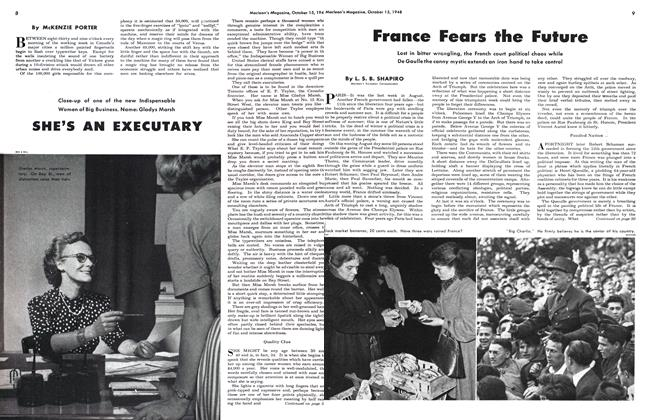 Article Preview: France Fears the Future, October 1948 | Maclean's