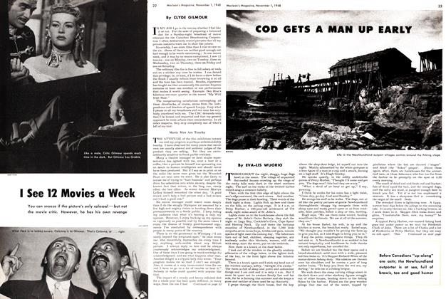Article Preview: I See 12 Movies a Week, November 1948 | Maclean's