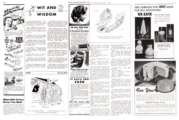 Article Preview: WIT AND WISDOM, November 1948 | Maclean's