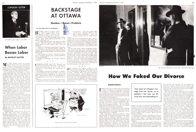 Article Preview: BACKSTAGE AT OTTAWA, November 1948 | Maclean's