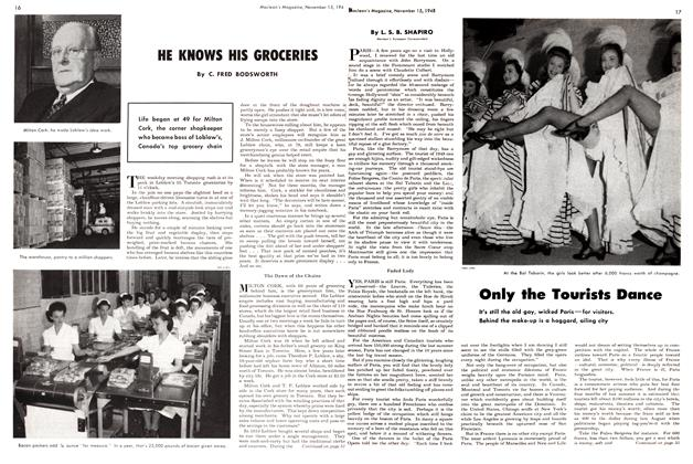 Article Preview: HE KHOWS HIS GROCERIES, November 1948 | Maclean's