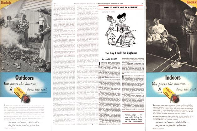 Article Preview: The Day I Built the Doghouse, November 1948 | Maclean's