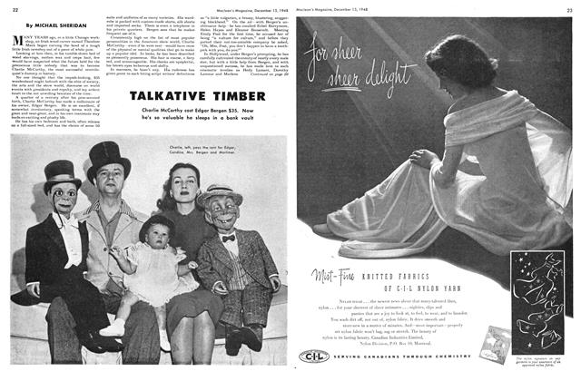 Article Preview: TALKATIVE TIMBER, December 1948 | Maclean's