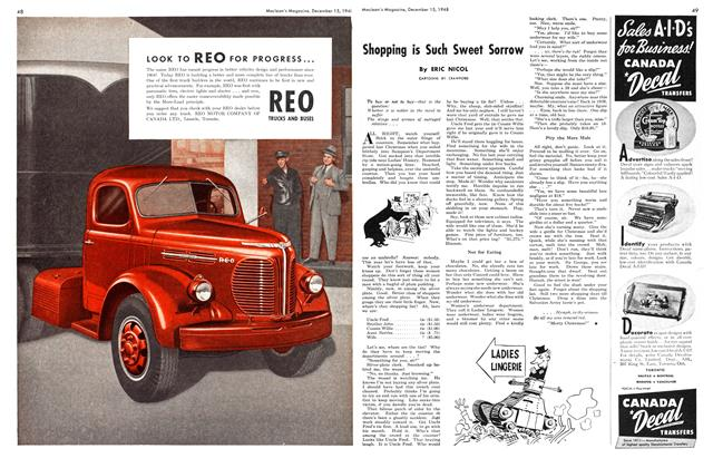 Article Preview: Shopping is Such Sweet Sorrow, December 1948 | Maclean's