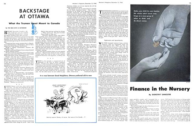Article Preview: Finance in the Nursery, December 1948   Maclean's