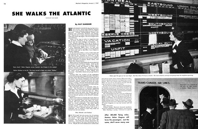 Article Preview: SHE WALKS THE ATLANTIC, January 1949 | Maclean's