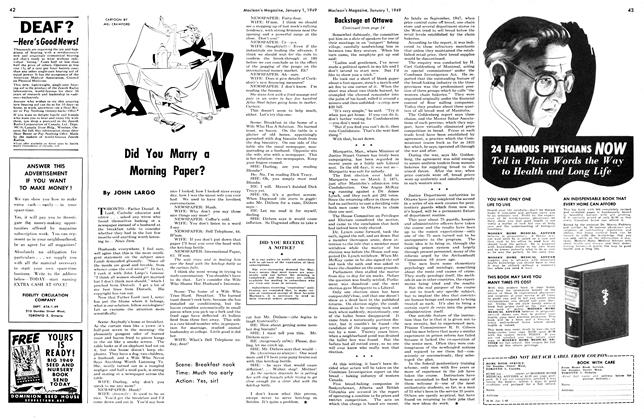 Article Preview: Did You Marry a Morning Paper?, January 1949 | Maclean's