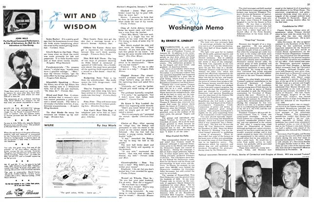 Article Preview: Washington Memo, January 1949 | Maclean's