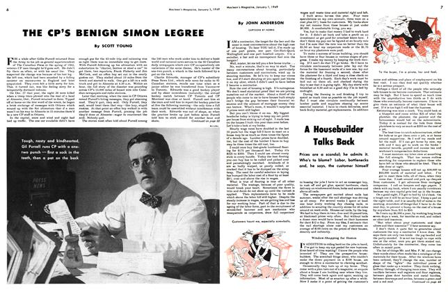 Article Preview: THE CP'S BENIGN SIMON LEGREE, January 1949 | Maclean's