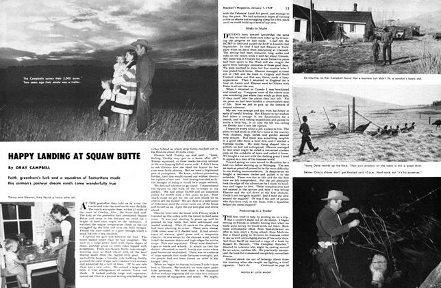 Article Preview: HAPPY LANDING AT SQUAW BUTTE, January 1949 | Maclean's