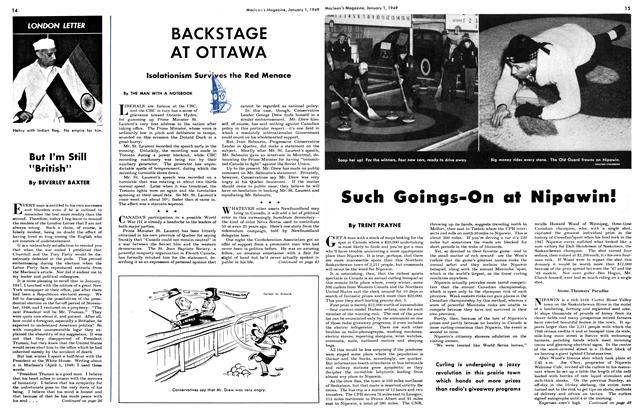 Article Preview: BACKSTAGE AT OTTAWA, January 1949 | Maclean's