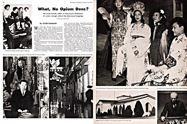 Article Preview: What, No Opium Dens?, January 1949 | Maclean's