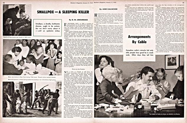 Article Preview: SMALLPOX — A SLEEPING KILLER, January 1949 | Maclean's