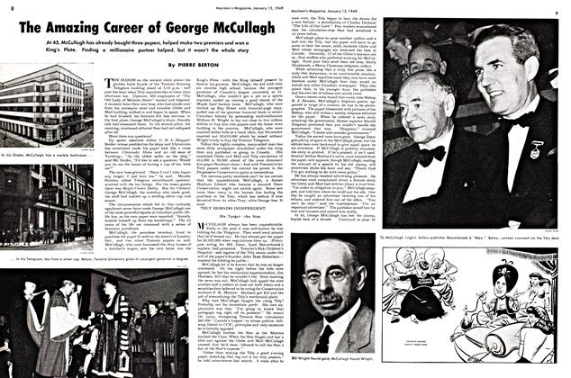 Article Preview: The Amazing Career of George McCullagh, January 1949 | Maclean's