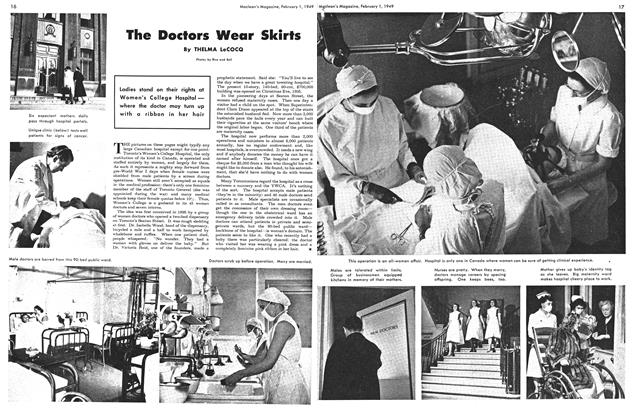 Article Preview: The Doctors Wear Skirts, February 1949 | Maclean's