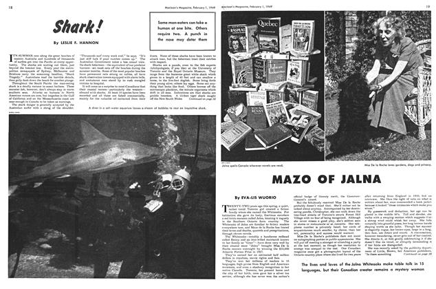 Article Preview: Shark!, February 1949 | Maclean's
