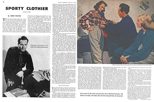 Article Preview: SPORTY CLOTHIER, February 1949 | Maclean's