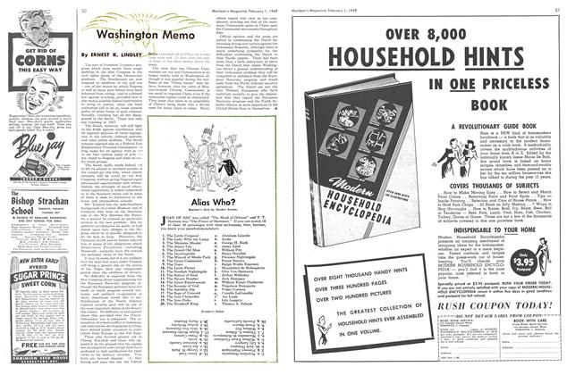Article Preview: Washington Memo, February 1949 | Maclean's