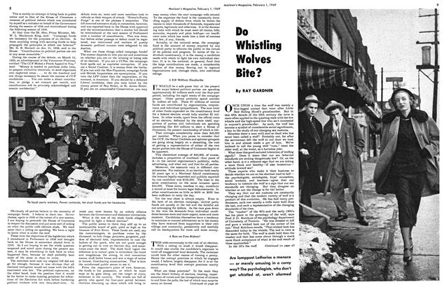Article Preview: Do Whistling Wolves Bite?, February 1949 | Maclean's