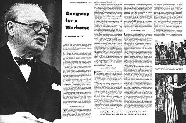 Article Preview: Gangway for a Warhorse, February 1949 | Maclean's
