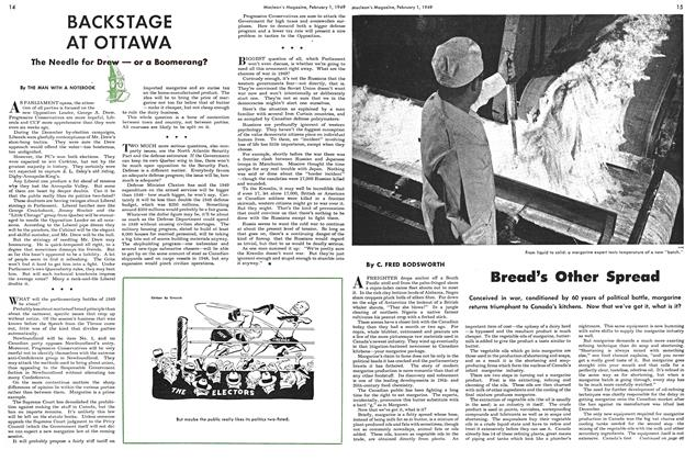 Article Preview: Bread's Other Spread, February 1949 | Maclean's
