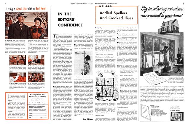 Article Preview: IN THE EDITORS' CONFIDENCE, February 1949   Maclean's