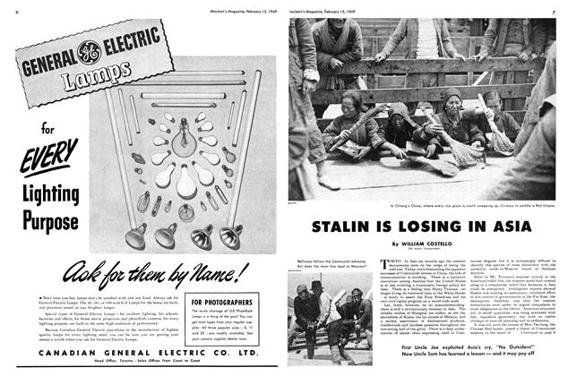 Article Preview: STALIN IS LOSING IN ASIA, February 1949 | Maclean's
