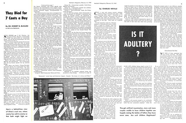 Article Preview: IS IT ADULTERY ?, February 1949 | Maclean's